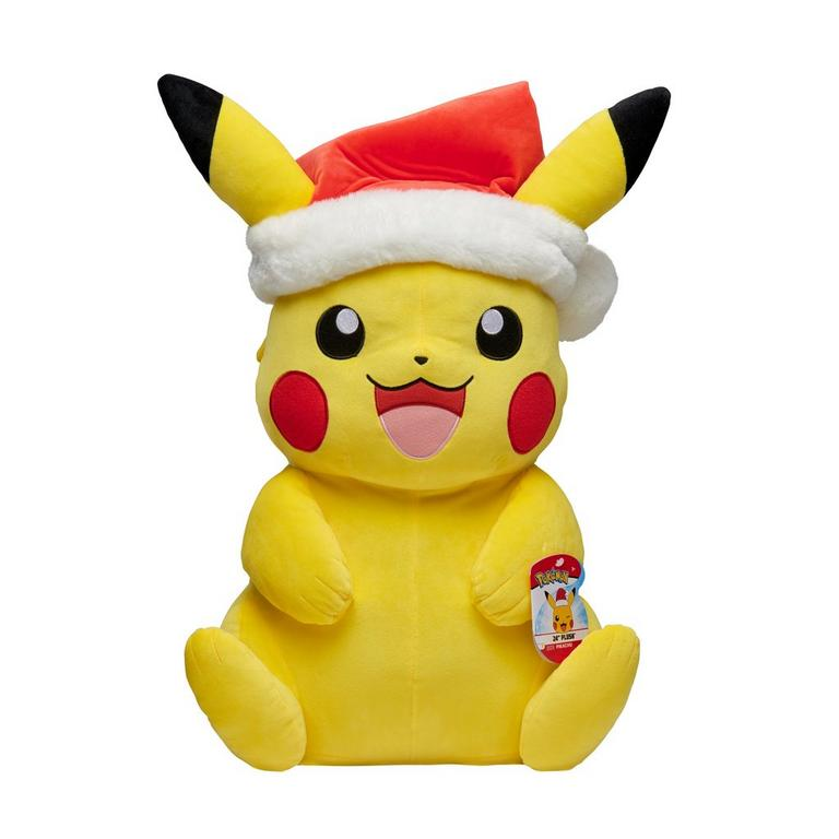 Pokemon Pikachu with Santa Hat Plush 24 in Only at GameStop