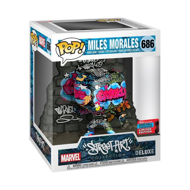 POP! Deluxe: Marvel Street Art Collection Miles Morales Fall Convention 2020 Only at GameStop