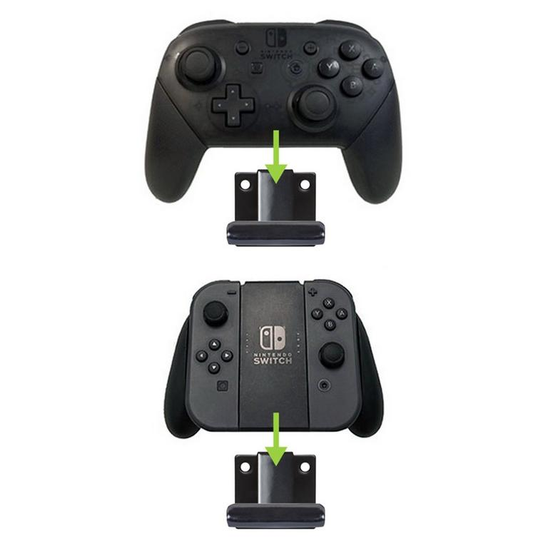 Dock and 2 Controller Pro Wall Mount Bundle for Nintendo Switch