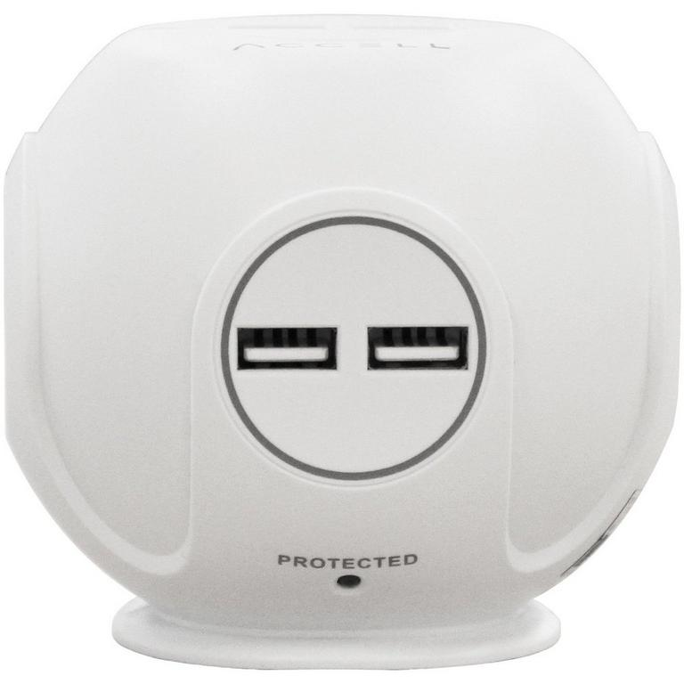 Power Cutie White Compact Surge Protector