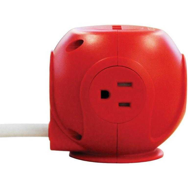 Power Cutie Red Compact Surge Protector