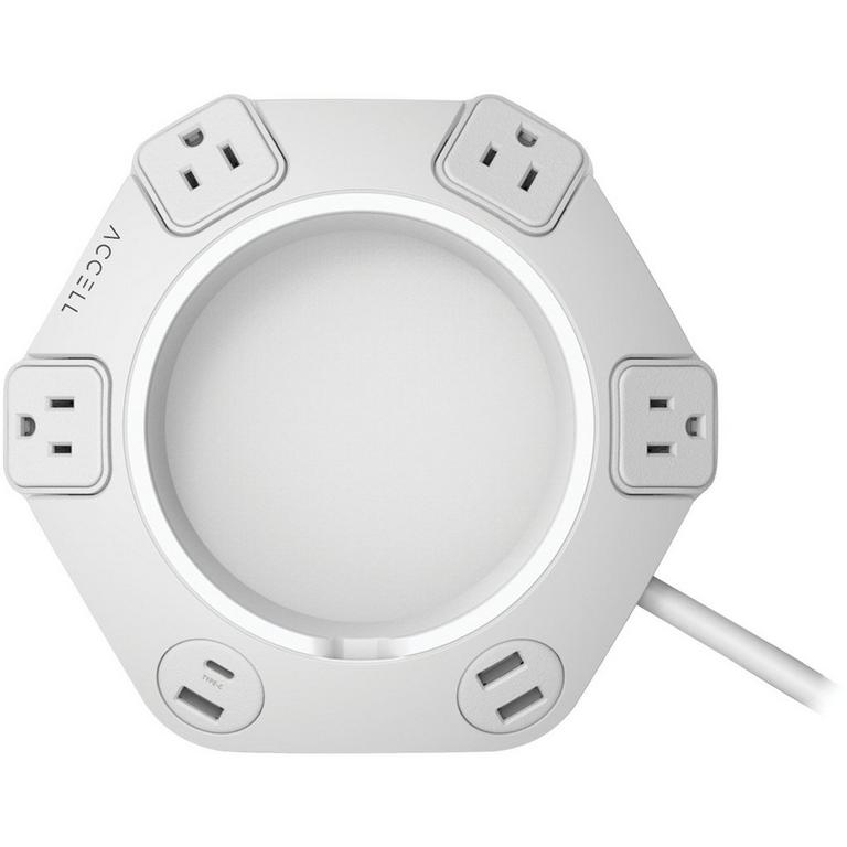 Power Office White Hub with 8 ft Cord