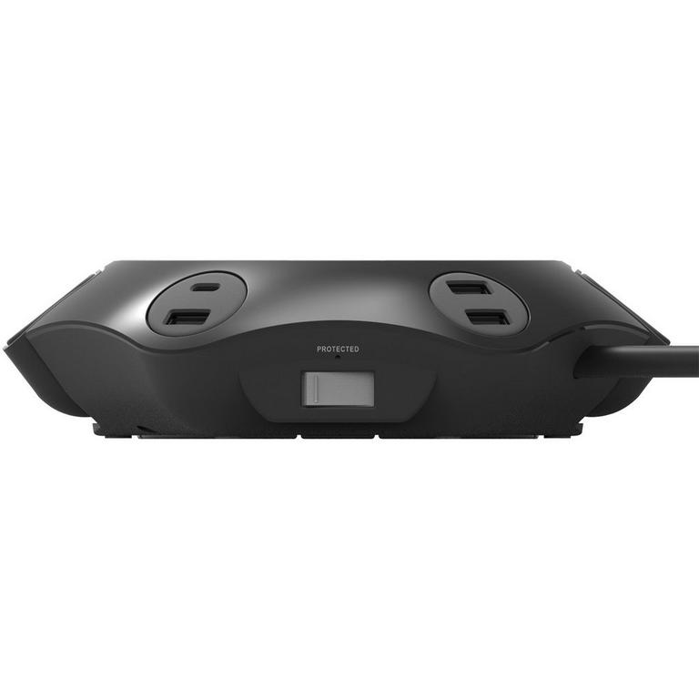 Power Office Black Hub with 8 ft Cord