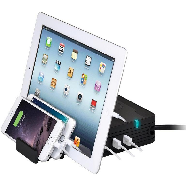 Wireless Charge Pad with 5 USB Ports and 2 AC Outlets
