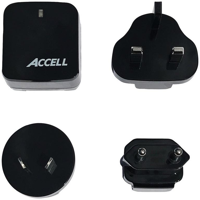 Home or Away Dual-USB Charging Kit with International Plug Adapters