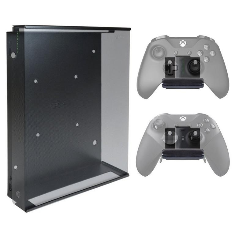 Console and 2 Controller Pro Wall Mount Bundle for Xbox One X