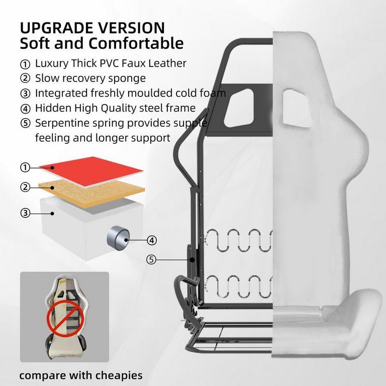 GP01-91-USA Red Racing Seat Design Gaming Chair
