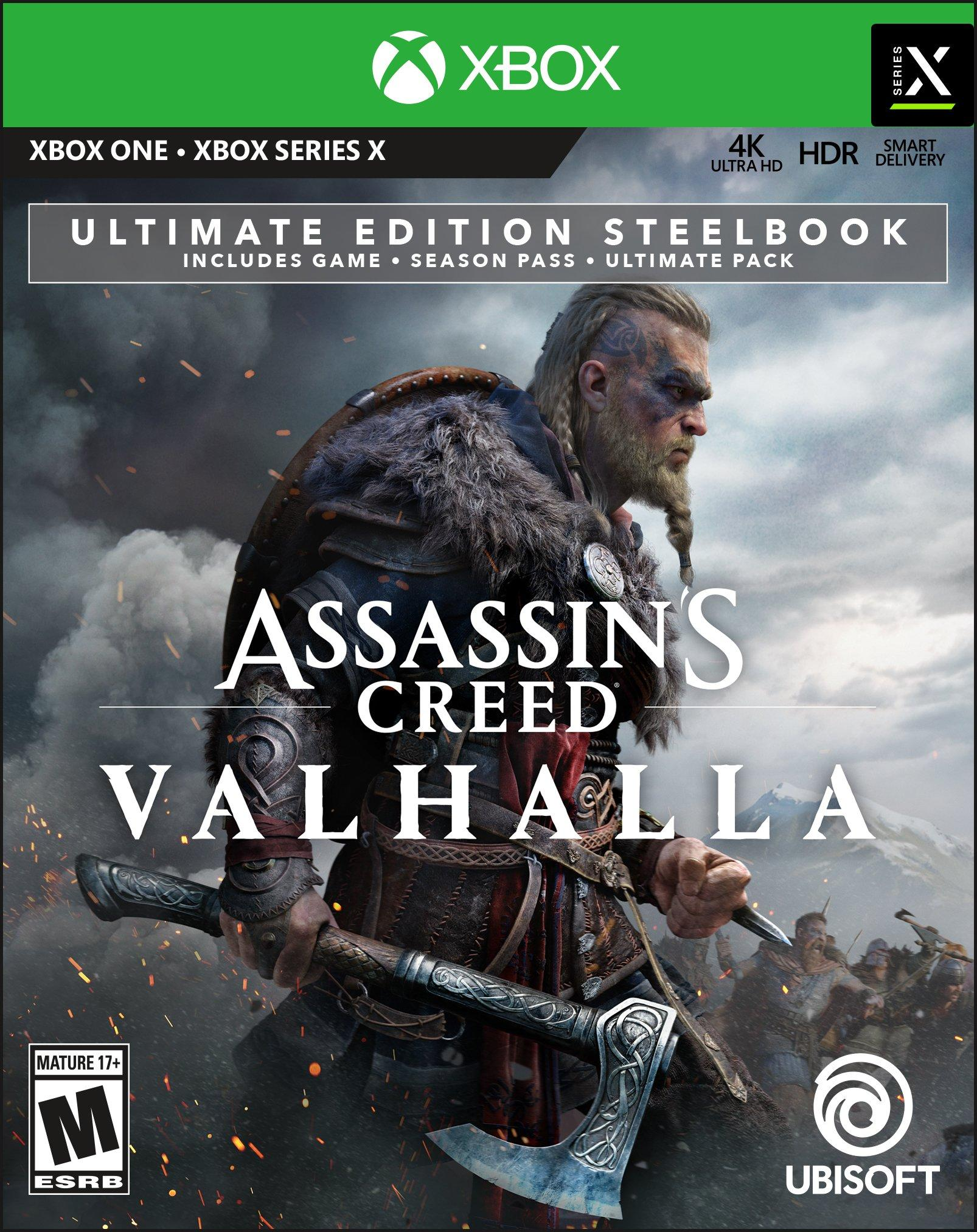 Assassin S Creed Valhalla Ultimate Steelbook Edition Only At Gamestop Xbox One Gamestop