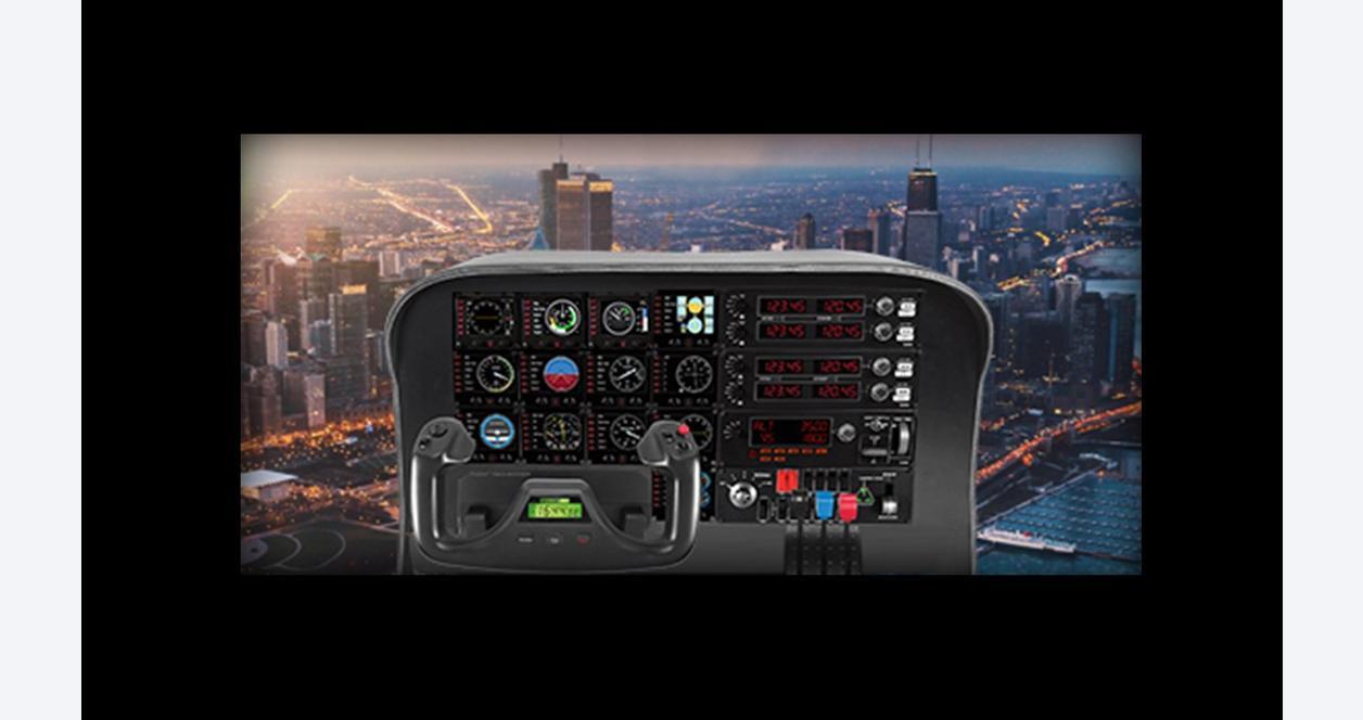 Flight Yoke System Professional Simulation Black Yoke and Throttle Quadrant