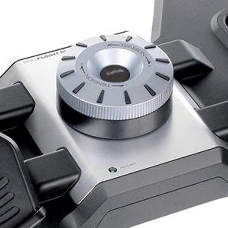 Professional Simulation Black Rudder Pedals with Toe Brake