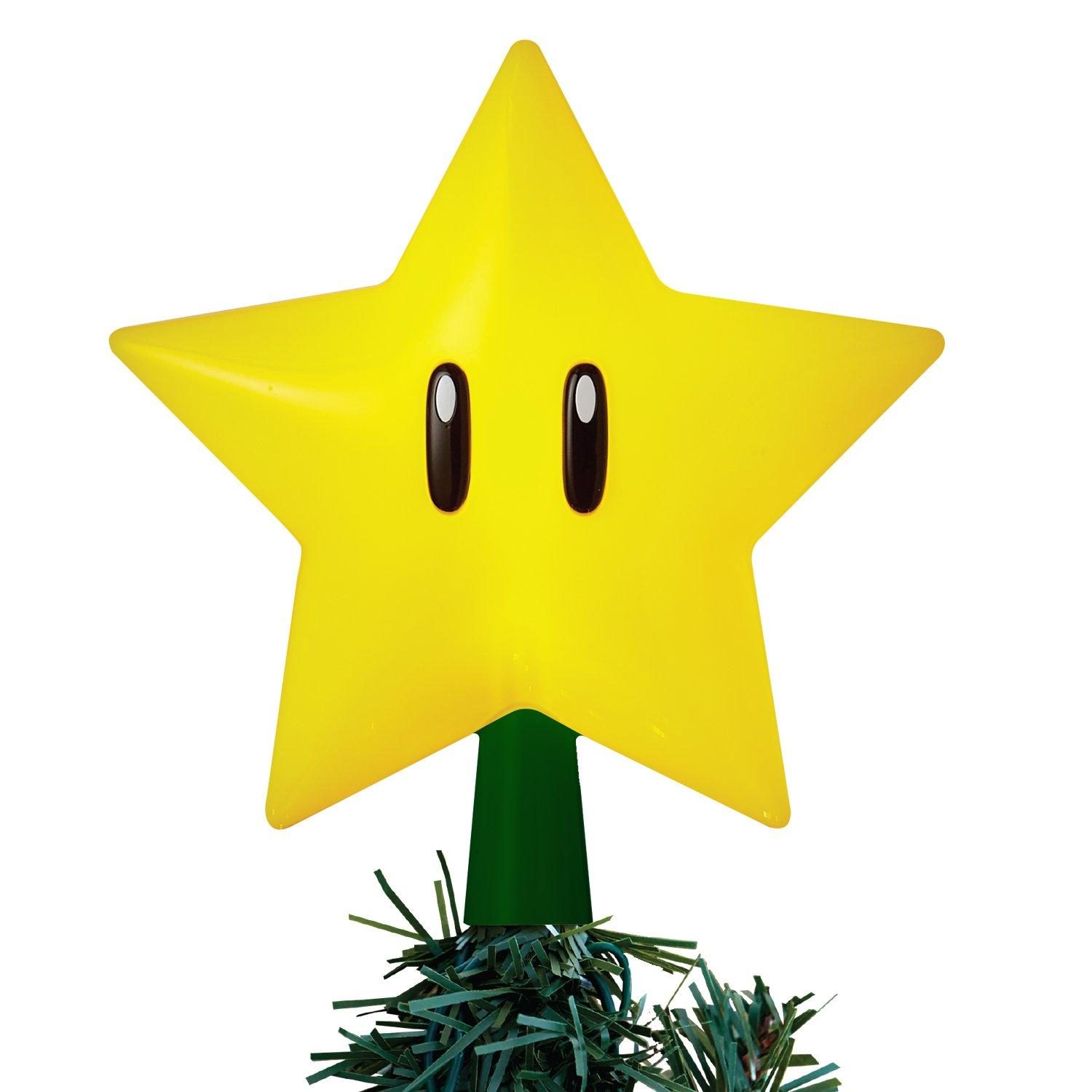 Super Mario Bros Super Star Gen 2 Light Up Tree Topper Gamestop