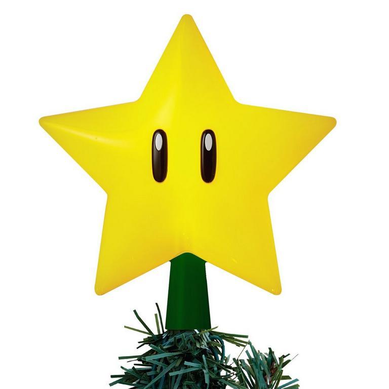 Super Mario Bros. Super Star Gen 2 Light Up Tree Topper