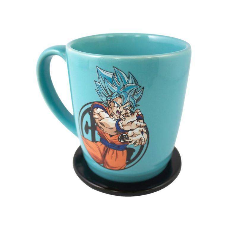 Dragon Ball Super - Super Saiyan God Super Saiyan Goku Blue Mug and Coaster Set