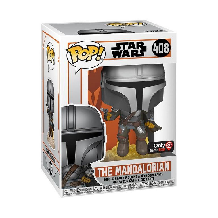 POP! Star Wars: The Mandalorian - The Mandalorian Flying with Blaster Only at GameStop