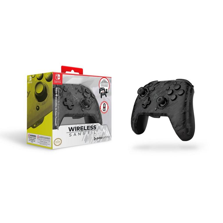 Faceoff Black Camo Wireless Deluxe Controller for Nintendo Switch