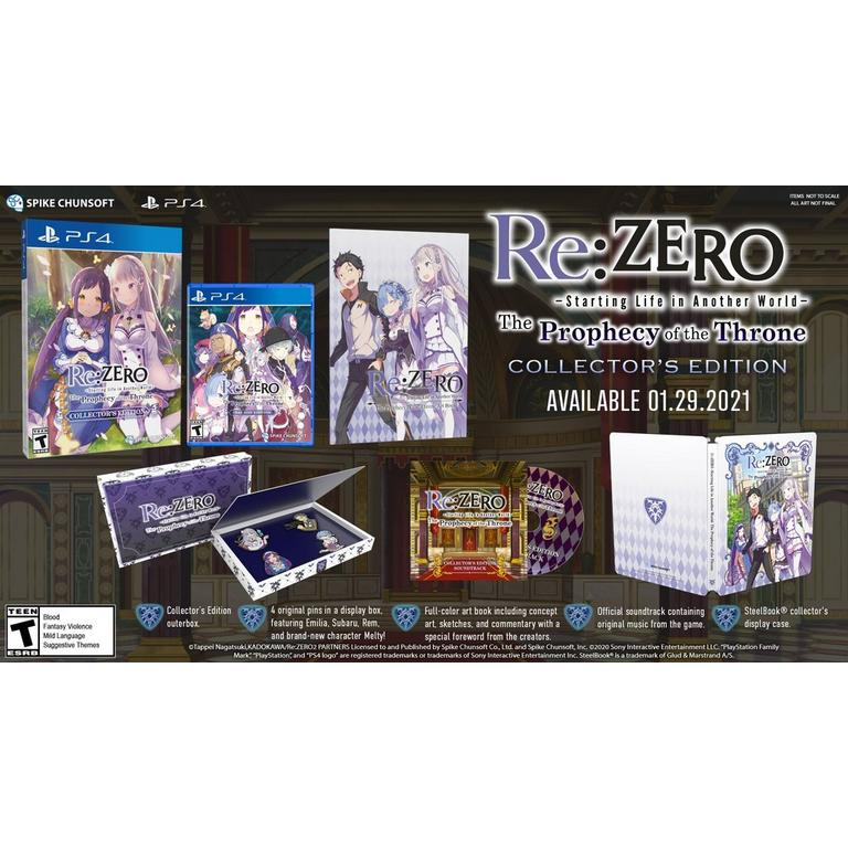Re:ZERO - The Prophecy of the Throne Collector's Edition