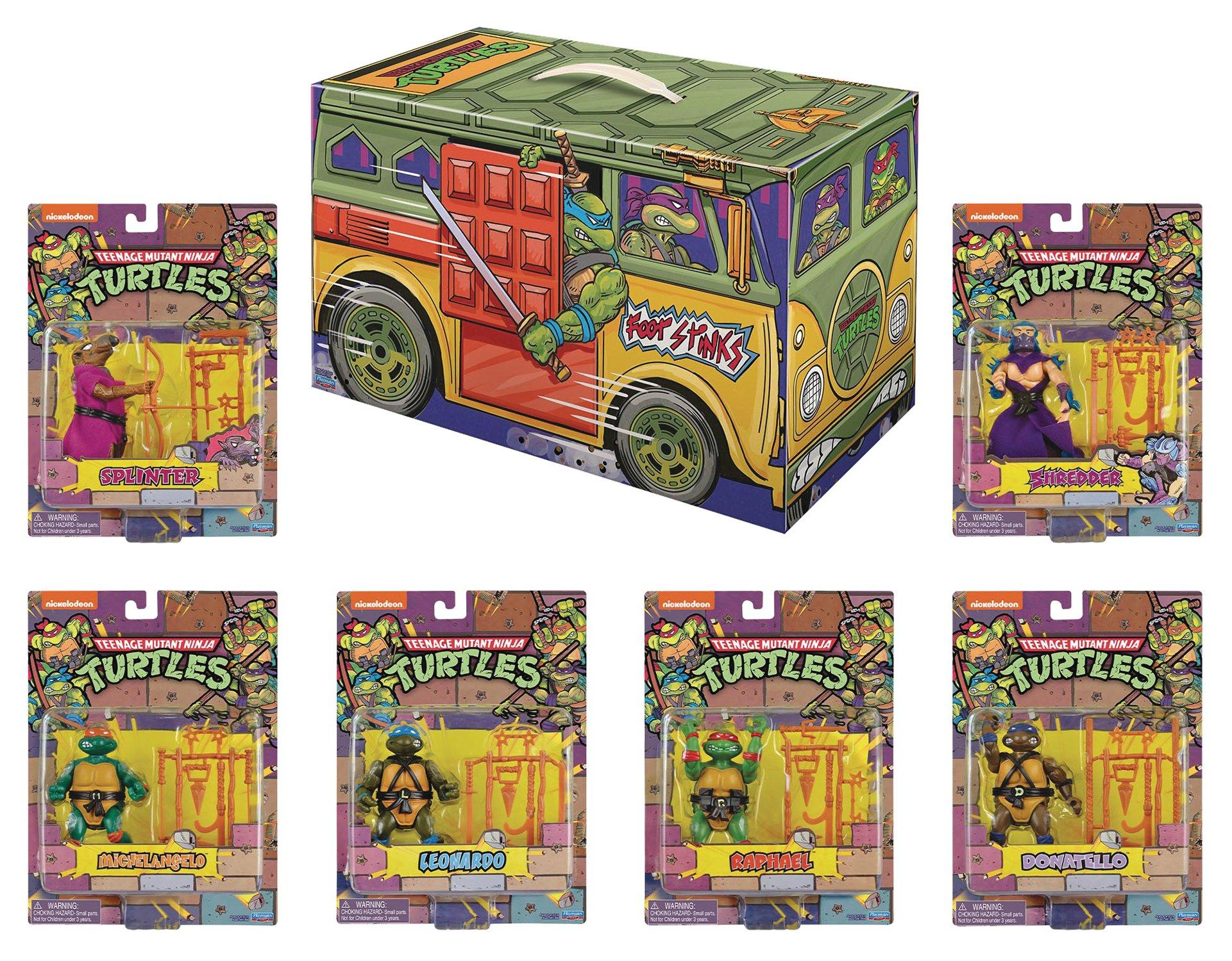 Teenage Mutant Ninja Turtles Rotocast Action Figure Set Summer Convention 2020 Gamestop