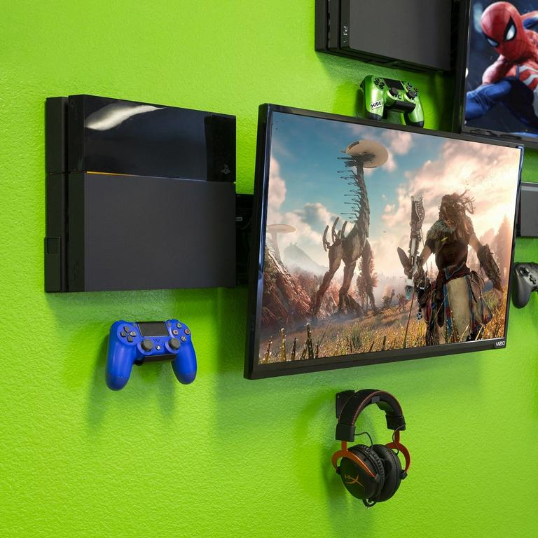 Console and Controller Pro Wall Mount Bundle for PlayStation 4