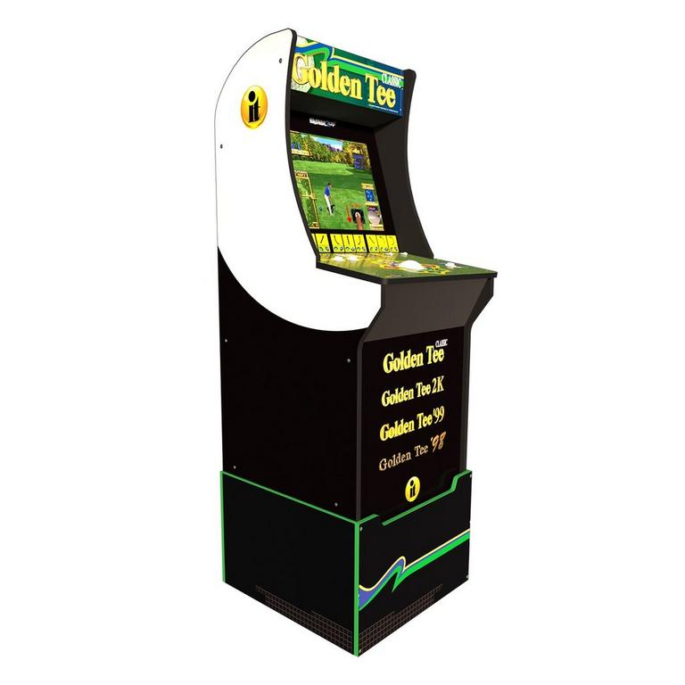 Golden Tee Classic Home Arcade Cabinet with Riser and Titleist Golf Balls 12 Pack
