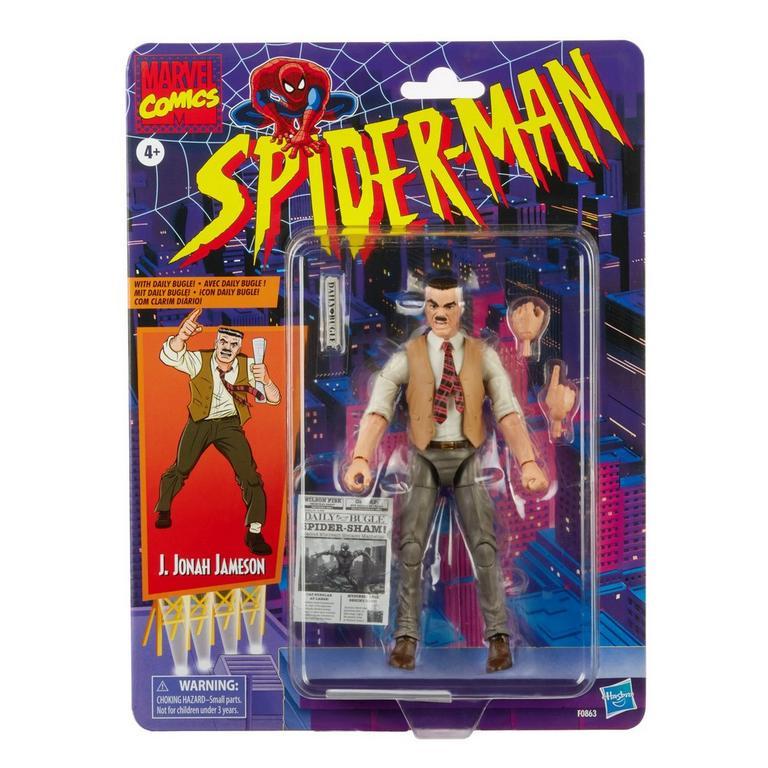 Marvel Legends Series Spider-Man J. Jonah Jameson Vintage Collection Action Figure