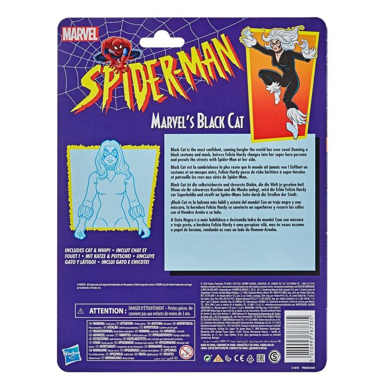 Marvel Legends Series Spider-Man Black Cat Vintage Collection Action Figure