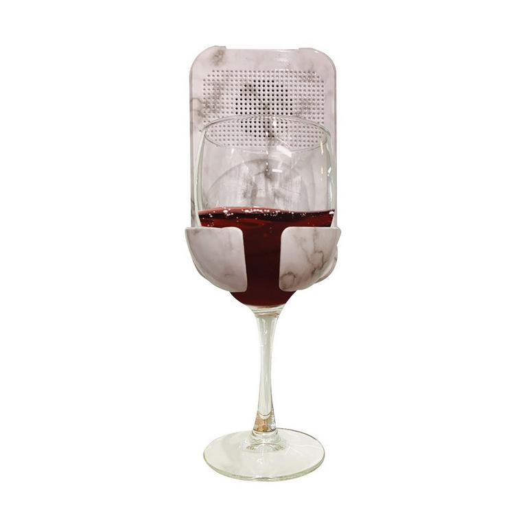 Bath Wine Holder and Bluetooth Speaker