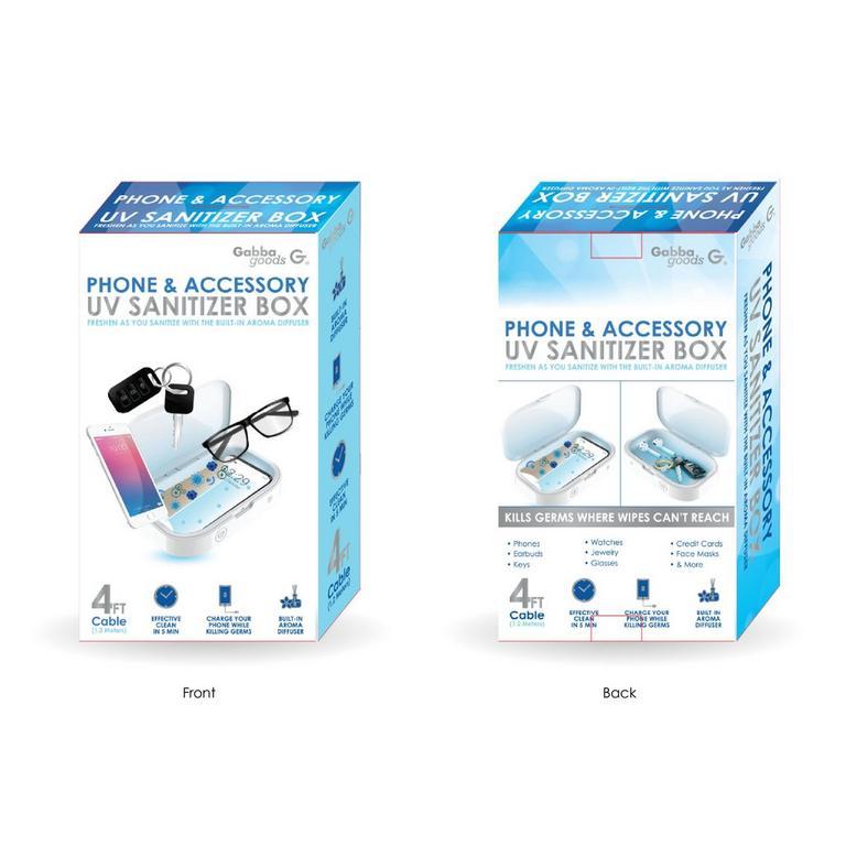 Phone and Accessory UV Sanitizer Box