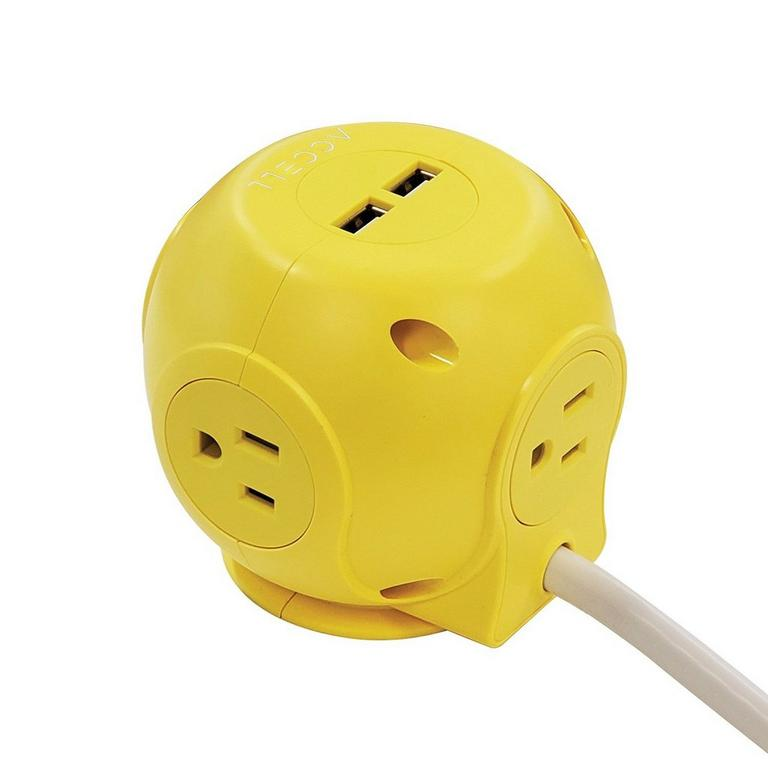 Power Cutie Yellow Compact Surge Protector
