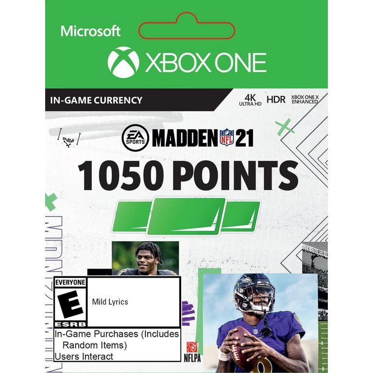 Madden NFL 21 1,050 Ultimate Team Points