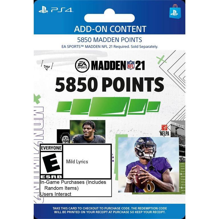 Madden NFL 21 5,850 Ultimate Team Points