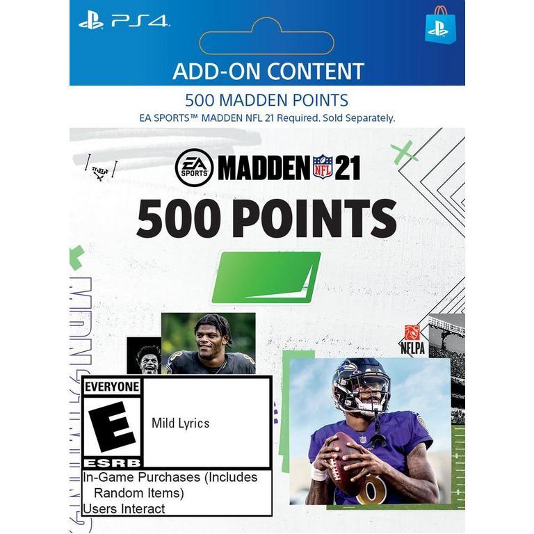 Madden NFL 21 500 Ultimate Team Points