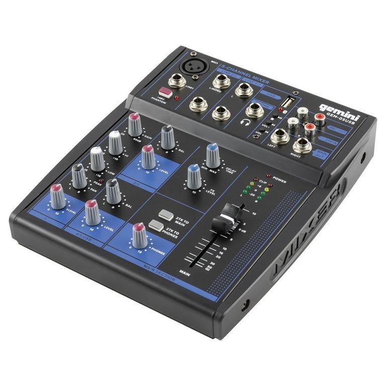 GEM-05USB Compact 5-Channel Bluetooth Audio Mixer