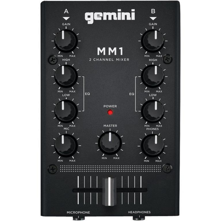 MM1 2-Channel Analog Portable DJ Stereo Mixer