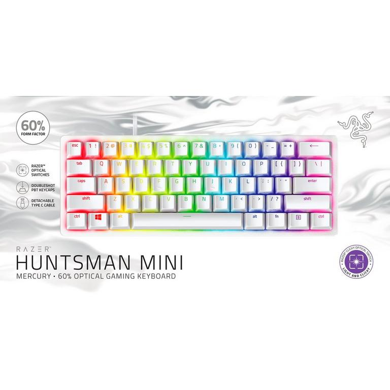 Huntsman Mini Mercury Edition 60 Percent Optical Purple Switches Wired Gaming Keyboard