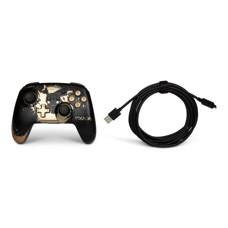Pokemon Pikachu Black Gold Enhanced Wireless Controller for Nintendo Switch