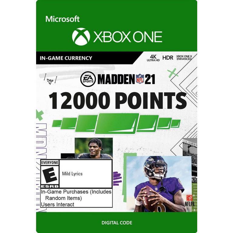 Madden NFL 21 12,000 Ultimate Team Points