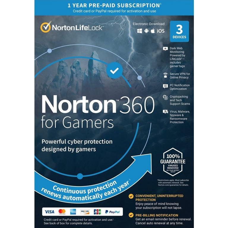 Norton 360 for Gamers 12 Month Subscription