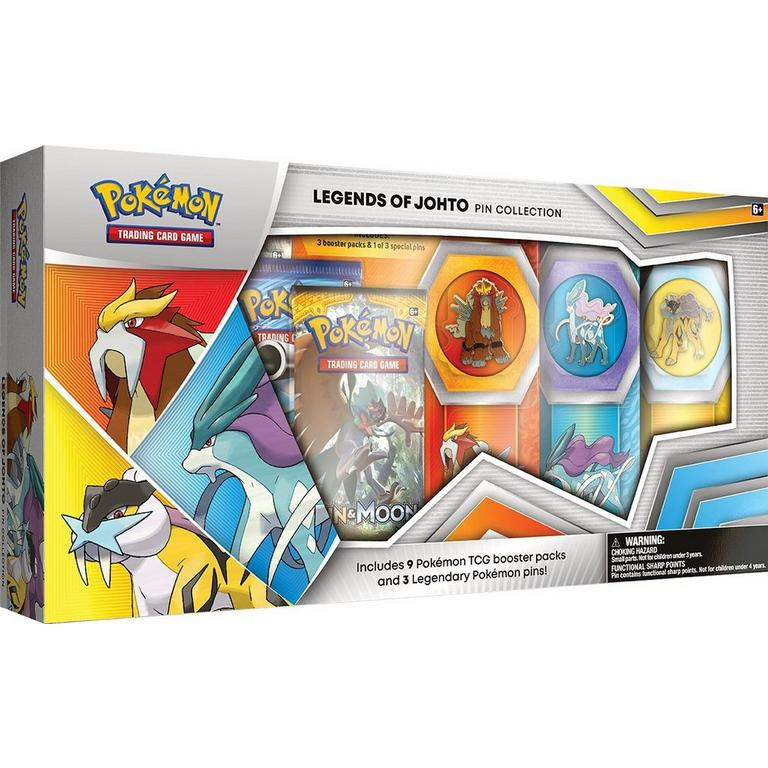 Pokemon Trading Card Game: Legends of Johto Pin Box Only at GameStop
