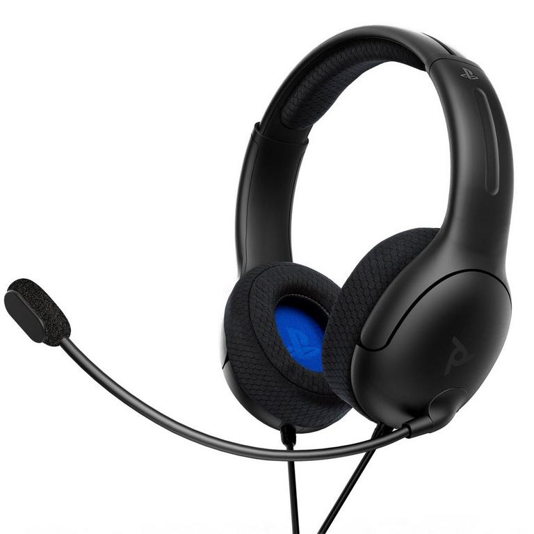 LVL40 Matte Black Wired Stereo Gaming Headset for PlayStation 4