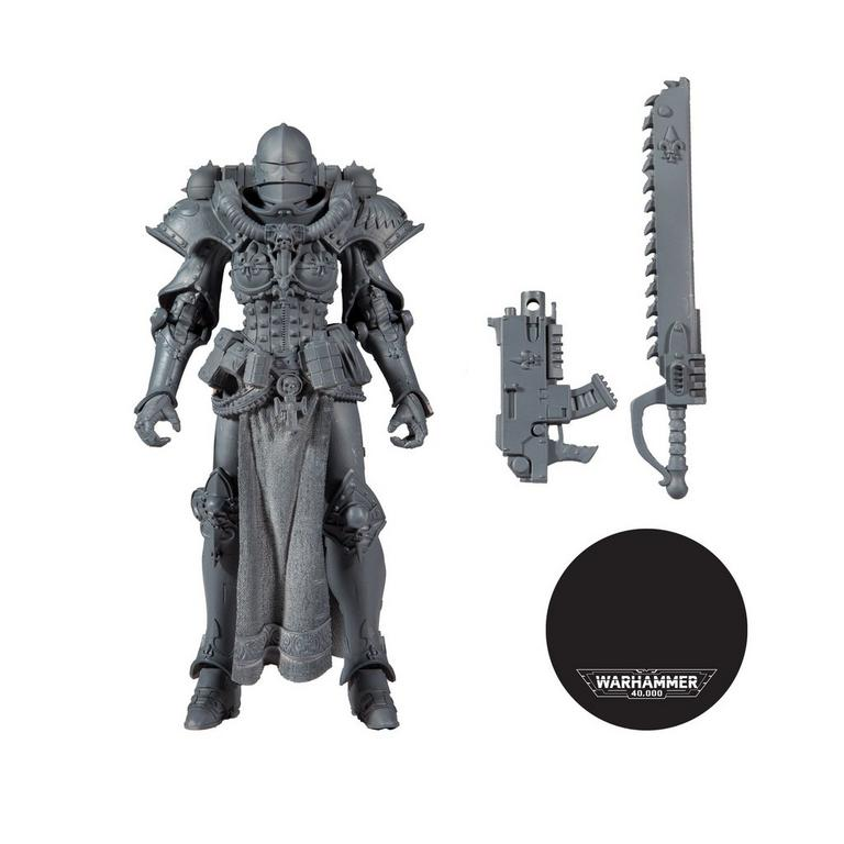 Warhammer 40k Adepta Sororitas Battle Sister Unpainted Action Figure