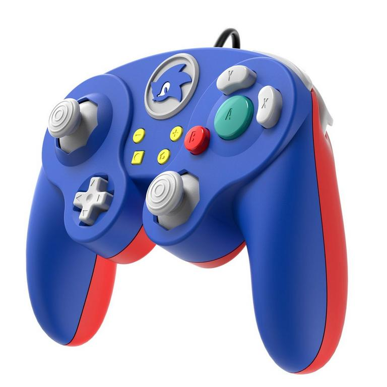 Super Smash Bros. Ultimate Sonic Edition Wired Fight Pad Pro Controller for Nintendo Switch