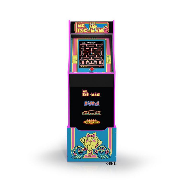 Ms. PAC-MAN Arcade Cabinet with Riser