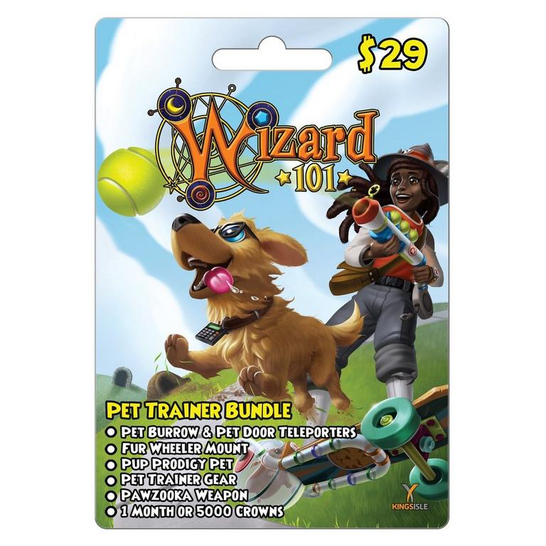 WIzard101 Pet Trainer Bundle Card