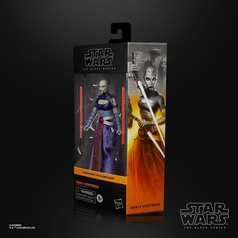 Star Wars: The Clone Wars Asajj Ventress The Black Series Action Figure