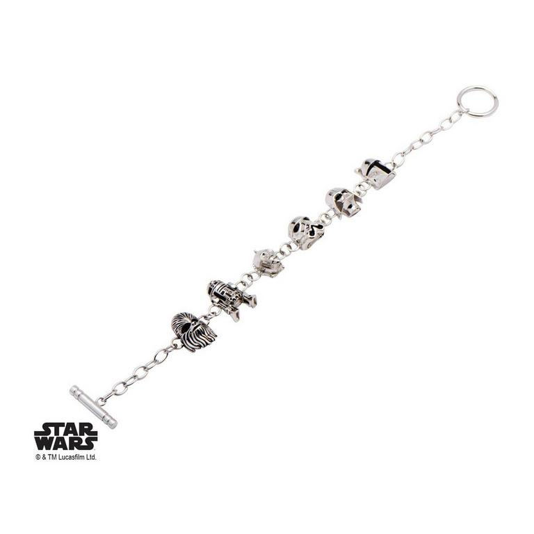 Star Wars Character 3-D Charm Toggle Clasp Bracelet