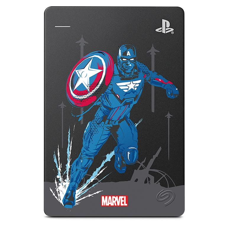 Marvel's Avengers Captain America Special Edition Game Drive 2TB for PlayStation 4 Only at GameStop