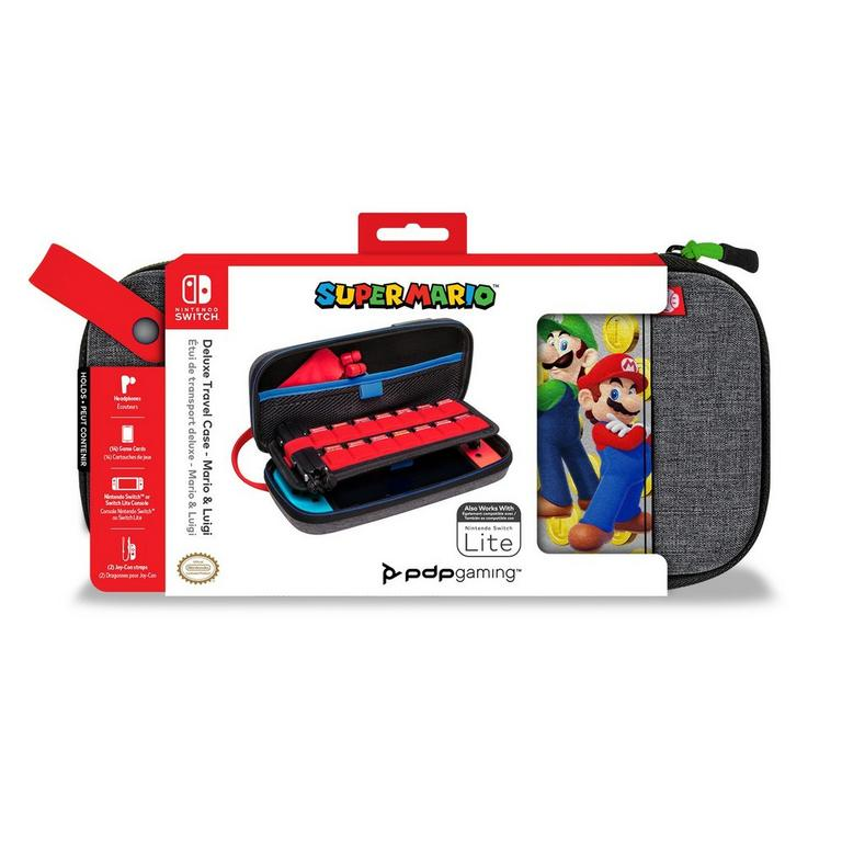 Super Mario Bros. Mario and Luigi Deluxe Travel Case for Nintendo Switch