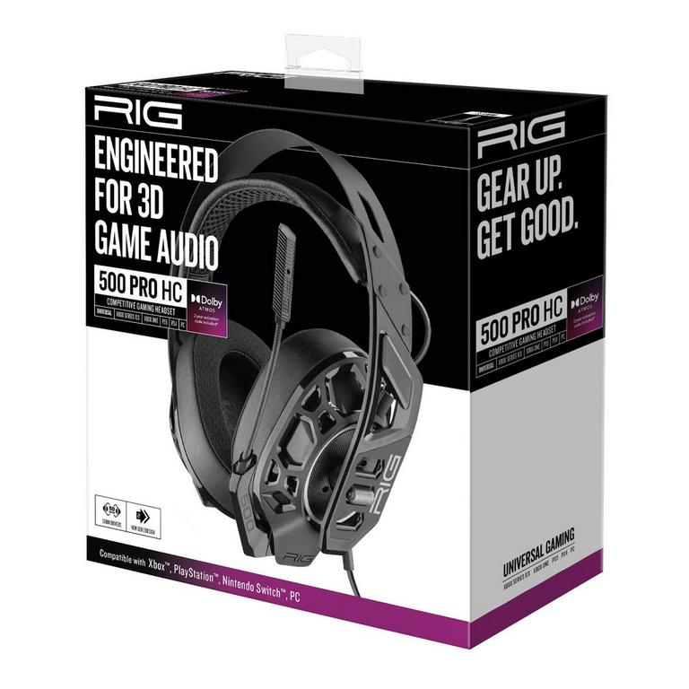 RIG 500 PRO HC Black Headset with Dolby Atmos