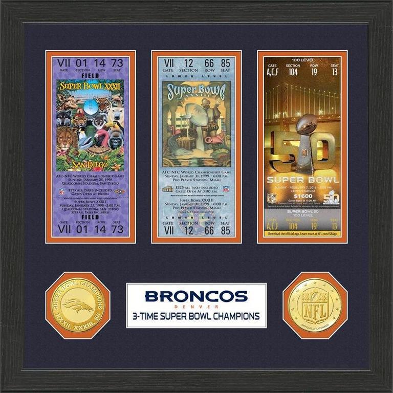 Denver Broncos Super Bowl Championship Ticket Collection