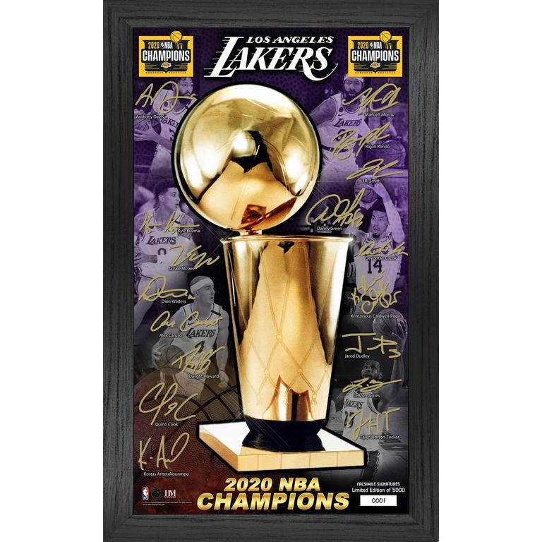 Los Angeles Lakers 2020 NBA Finals Champions Signature Trophy Photo